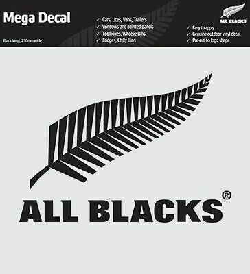 New Zealand All Blacks Rugby Team Black Mega Decal Stickers * Great on Cars!