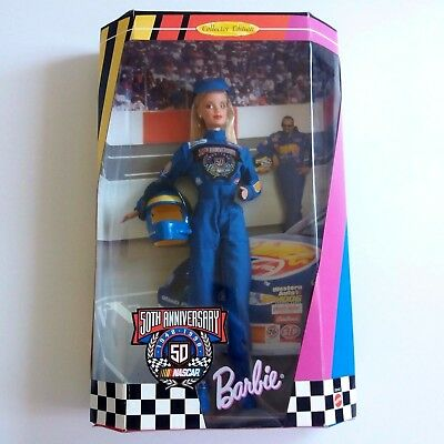 1998 50th Anniversary Nascar Barbie Collector Edition 20442 Racing Suit New NRFB