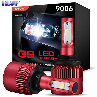 9006 HB4 LED Headlights Conversion Bulbs 900W 6000K + Canbus Error Free Adpter