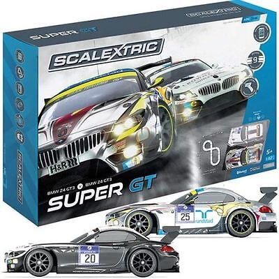 C1360 Scalextric Bogen Eins Super GT Schlitz Auto Set Handy Tablet Best