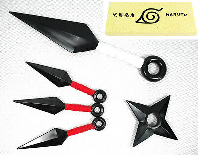 New! Anime Naruto Ninja Throwing Weapons (5 pcs) 1:1 Props Cosplay Knife Star