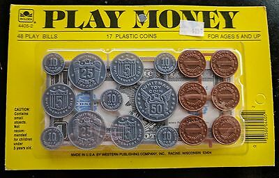 Vintage Western Publishing Play Money Toy Fake Pretend Paper Coins Cash Whitman