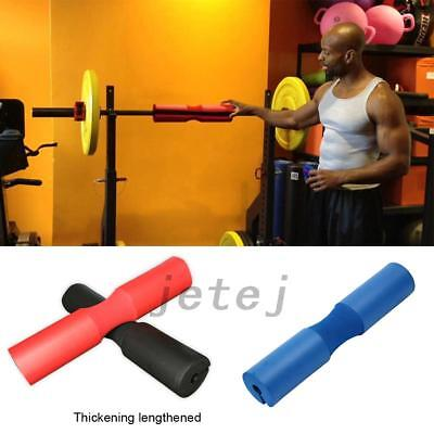 Foam Padded Barbell Bar Cover Pad Weight Lifting Shoulder Back Support JE