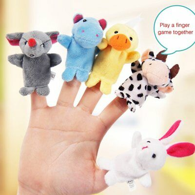 Plush Animal Finger Puppets Baby Dual-layer Storytelling Props Kids Toys Gift GT