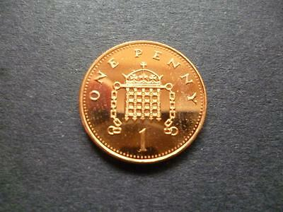 1994 Brilliant Uncirculated One Pence Piece. 1994 Uncirculated 1P Coin.