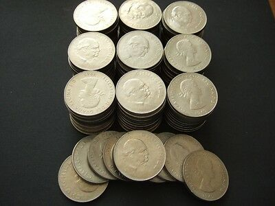 1965 Winston Churchill Crown Coins, Bulk Lot Of 100 Coins, Free Uk Postage.