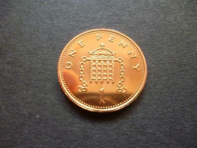 1996 Brilliant Uncirculated One Pence Piece. 1996 Uncirculated 1P Coin.