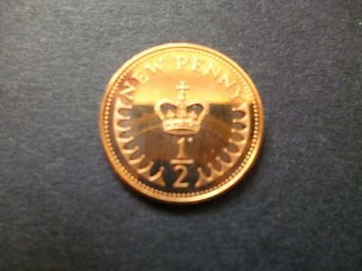 1978 Proof Half New Penny Very Toned 1978 1/2P Piece.