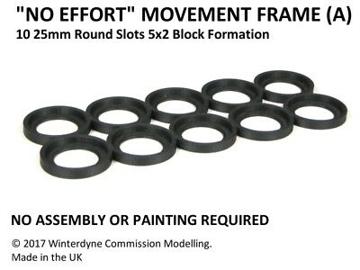 """No Effort"" Movement Tray Frame(A), Suits Age of Sigmar, Warhammer, 25mm Round"