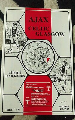 ajax v celtic programme.