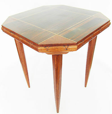 PEDESTAL table ART DECO year 40 30 macassar 20th inlaid french side table