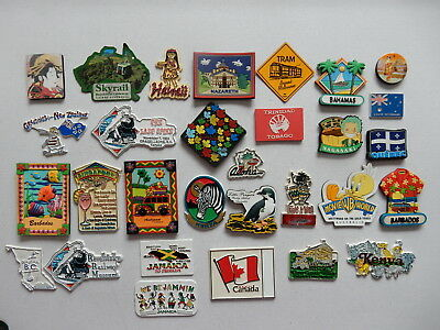 One Selected Mostly Rubber Souvenir Fridge Magnet from Around the World