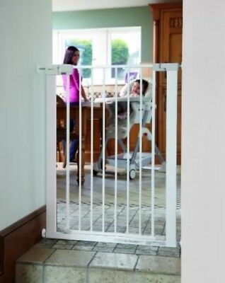 No Drilling Stair Metal Gate Safety Baby Simply-Close Extra Tall Gate, 1st Dog