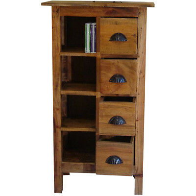 Rustic CD DVD Rack Storage Display Unit Bookcase Retro Country Style