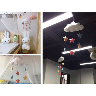 Personalized Baby Nursery Mobile Wall Hanging Soft Star Cloud Pendant