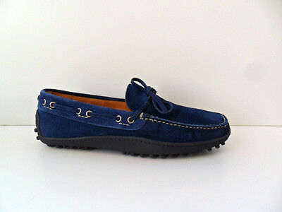Loafers Man Car Shoe Suede Ink