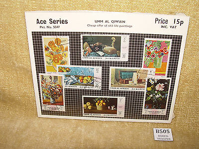 Ace Series Pkt No 5047 Umm Al Qiwain Cheap Offer Of Still Life Painting Stamps