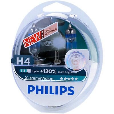 H4 PHILIPS X-tremeVision - Take performance Scheinwerfer Lampe DUO-Pack NEU