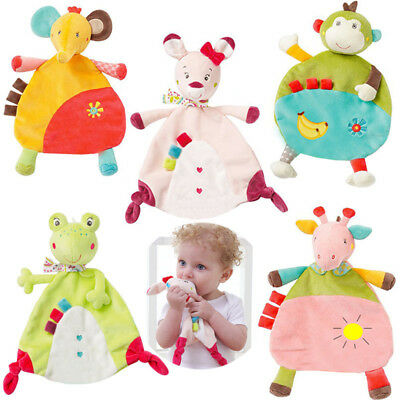 Infant Baby Soft Sleep Appease Towel Blanket Comfort Animal Doll Plush Toy Gift