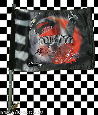 2x Michael Schumacher Collection Autofenster Flagge Autofahne Fahne World Champ