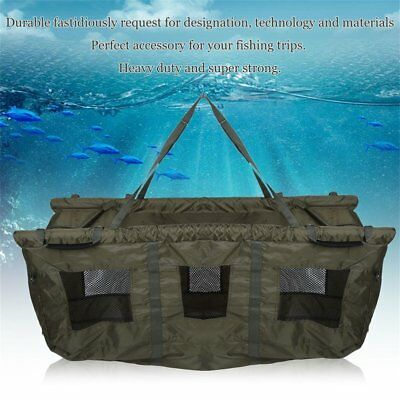 Carp Fishing Safety Weigh Weighing Sling Bag Floatation Floating Dark Green New