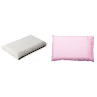 Clevamama ClevaFoam Toddler Baby Kids Pillow With Replacement Pillow Case Pink