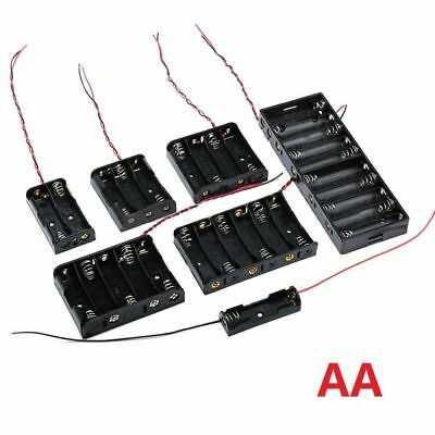 1/2/3/4/5/6/10 x AA Battery Holder 1.5V Batteries Box Case Storage With Wire