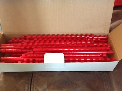 Plastic Binding Combs A5 Red 8mm 14 Rings Qty100