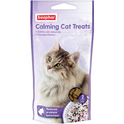 Beaphar Calming Cat Kitten Daily Chicken Treats Stress Relief Remedy 35gm