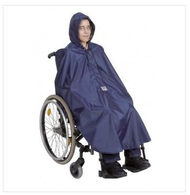 Simplantex Mobility Waterproof Poncho For Scooters & Wheelchairs Navy One Size