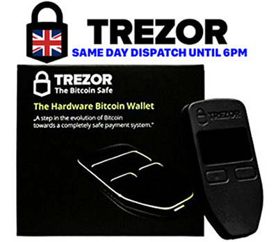 TREZOR Bitcoin wallet- SAME DAY DISPATCH - UK Distributor