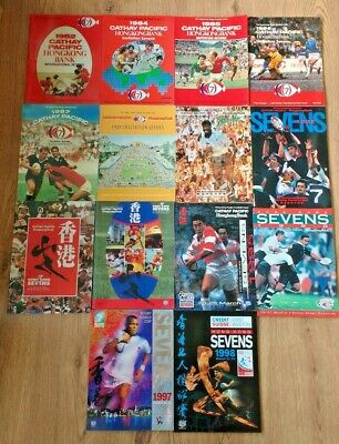 Hong Kong Sevens Rugby Union Programmes 1982 - 2010