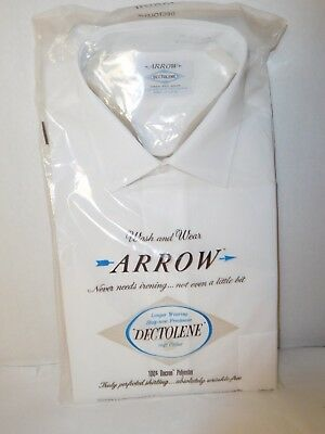 Arrow Dectolene Dress Shirt White Size 15 33 Wrinkle Free New Old Stock