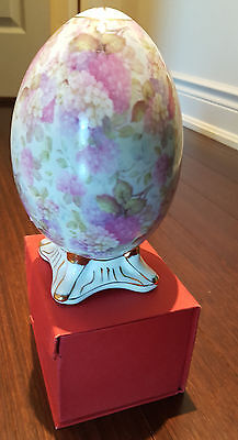 Formalities By Baum Bros. Egg Shaped Figurine Hand Painted Gold Trimmed
