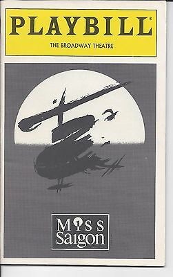 Miss Saigon (March 1993) Playbill, The Broadway Theatre