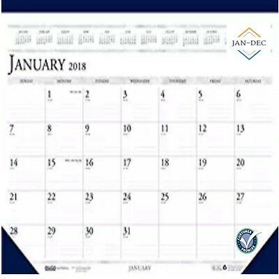 House of Doolittle 2018 Monthly Desk Pad Calendar,Classic, 18.5 x 13 Inches NEW