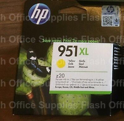 GENUINE HP 951XL YELLOW INK CN048AE OfficeJet 8100 8600 8620 2018+ VAT INCLUDED