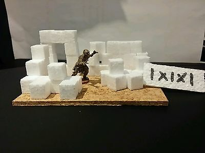 Polystyrene/ Styrofoam  Bricks/ Cubes 1x1x1cm Pack of 250