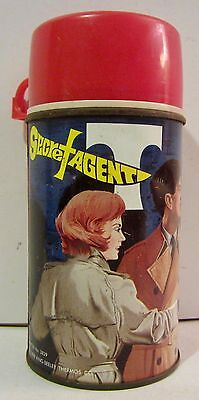 King Seeley SECRET AGENT Metal Thermos Bottle No 2829 Vintage 1968 AS IS