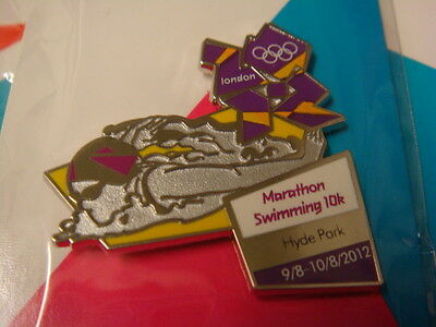 London 2012 Olympic Paralympic Marathon Swimming 10K Venue Pin Rare Bn Uk