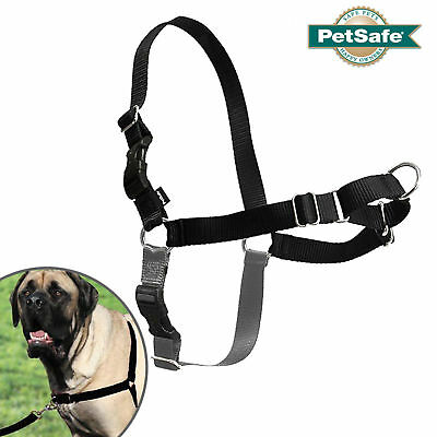 PetSafe Easy Walk Harness - Puppy & Dog Non-Pull Harness -Black & Grey All Sizes