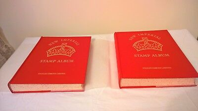 MINT CONDITION: Stanley Gibbons New Imperial Stamp Albums Vol 1 & 2. 1840-1936