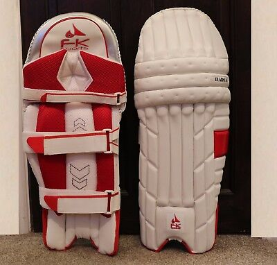 FK Men Cricket Batting Pads Right hand White / Red - New for 2017