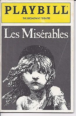Les Miserables (1989) Playbill, The Broadway Theatre, Willaim Solo & Herndon Lac