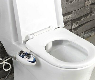 Luxe Bidet NEO 320 Hot-Cold Fresh Water Self Cleaning Toilet Attachment BLUE