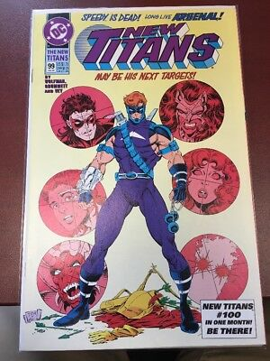 New Titans #99 1st Appearance Arsenal NM-