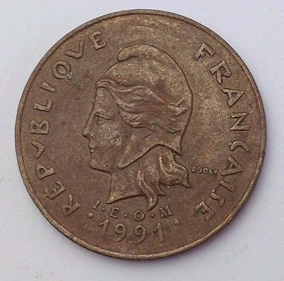 Dated : 1991 - French Polynesia - 100 Francs Coin