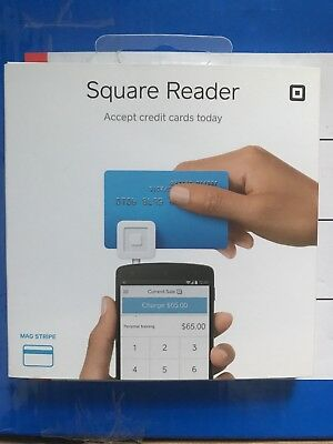 NEW SQUARE Credit Card Reader for Apple iPhone & Android Supported White