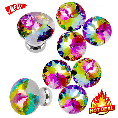 Yazer Colorful Durable Fashion Glass Knobs for Dresser Drawer Cabinet,Mini Pulls
