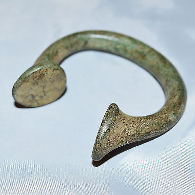 West African Manilla Currency Slave Bracelets Brass Copper Iron 1600's - 1800's